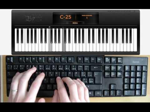 Adele - Hello (computer keyboard piano tutorial)