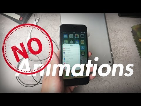 How to Remove Animations in iOS 11 - No Jailbreak