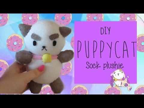 DIY Puppycat Sock Plushie | Tiny Sparkles