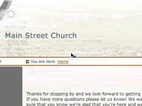 Church Website - Private User Registration