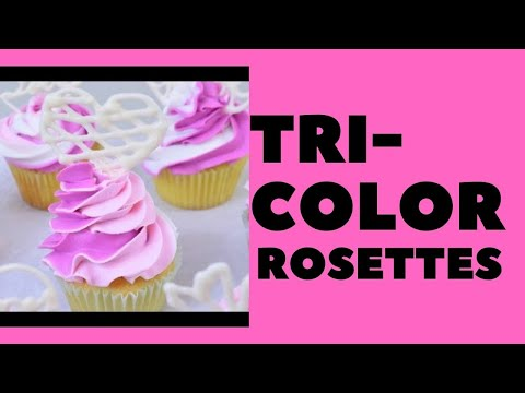Cupcakes with Rosettes and Candy Melts