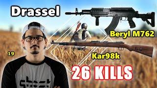 Drassel & Chad - 26 KILLS - Beryl M762 + Kar98k - DUO - PUBG