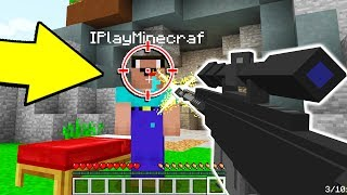CRAZY MINECRAFT SNIPER TROLLING! WHAT!?!