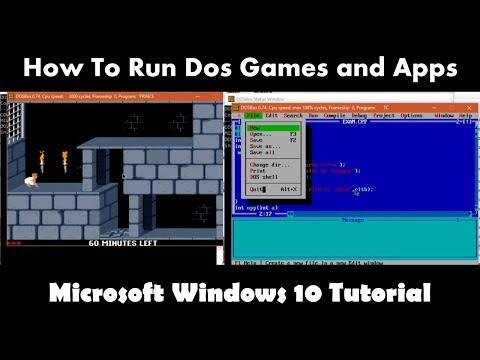 How To Run Dos Programs in Windows 10  64 Bit using DosBox | Microsoft Windows 10 Tutorial