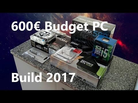 $600 | 600€ Budget Gaming PC Build 2017 - i5 6500, GTX1050