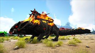"""ARK: Crystal Isles #27 - Taming """"Demonic Megatherium"""" và Rồng Đất Lửa """"Demonic Thorny Dragon"""""""