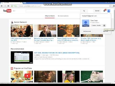 How to Change Youtube Channel URL 2014