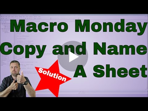 Macro Monday Challenge Copy a Sheet and Name It   Solution