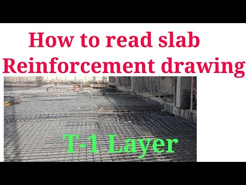 How to read slab reinforcement drawing ( T-1 Layer)