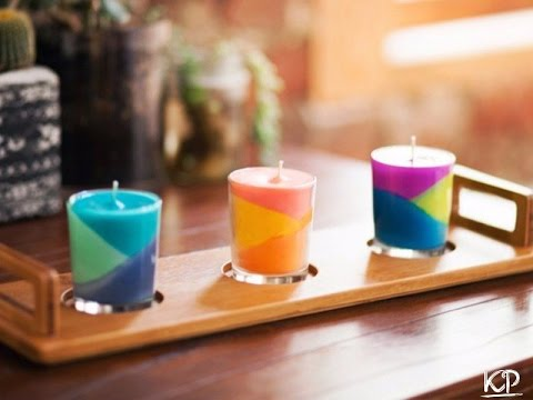 How to make candles out of old crayons!