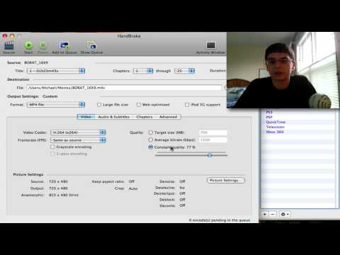 How To: Rip DVD's to your computer (Mac, Windows, or Linux) via Handbrake