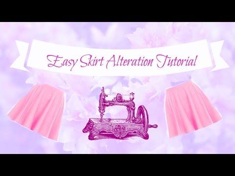 Easy skirt alteration tutorial