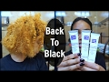 Dying Bleached Hair Black