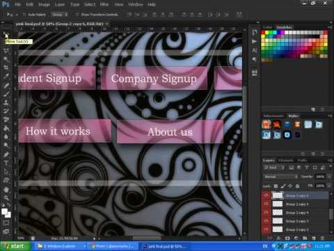 how to change button  position & resize button on your background image