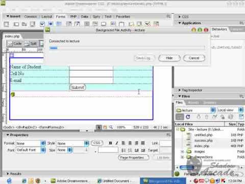 Configure Database in Dreamweaver, (Link Table, Enter Data)