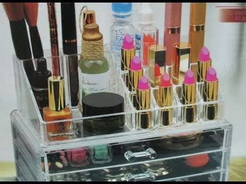 DIY : #203 Modified Cosmetic Organizer - CHRISTMAS GIFT ❤