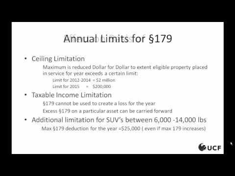 Tax - MACRS Section 179 and Bonus Depreciation, 3 of 3