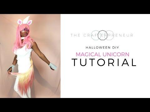 Halloween DIY: Magical Unicorn (complete with swishy tail)