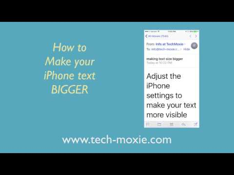 iPhone: Making Text Size Bigger