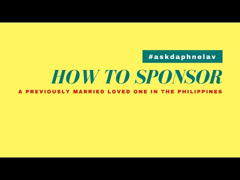 How To Sponsor A Previously Married Loved One in the Philippines Without Filing For Annulment