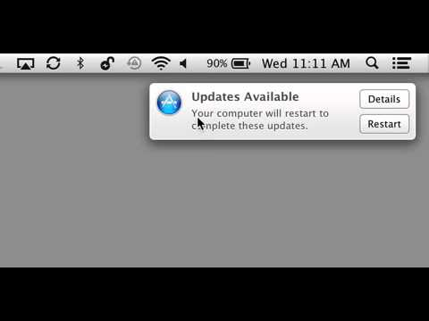 How to dismiss OS X