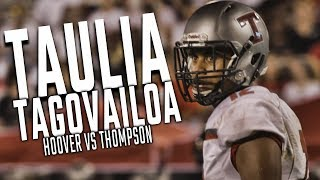 Watch Taulia Tagovailoa in action while playing against Hoover