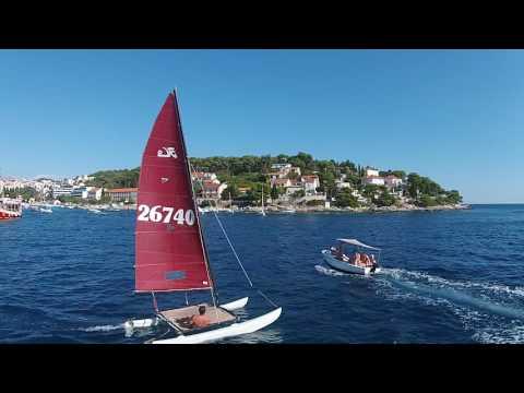Catamaran sailing Hvar 2016