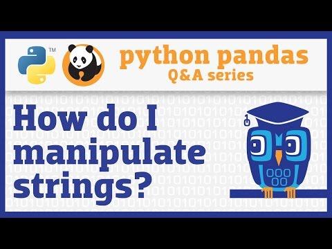 How do I use string methods in pandas?