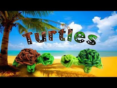 Rainbow Loom New 3D Turtle/Franklin the Turtle Figure/Charm - How to - Animal Series