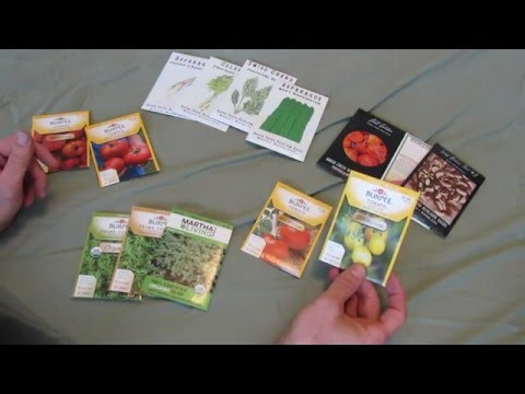 Buying Garden Vegetable Seeds Wisely: GMO, Heirloom, Organic, Hybrids Defined - TRG2016