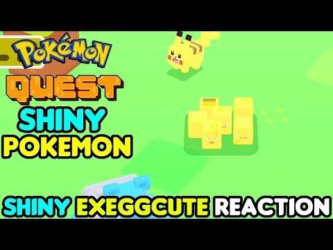 Shiny Exeggcute Reaction in Pokemon Quest!