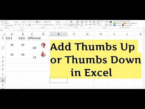 How to add Thumbs up or Thumbs Down in Excel
