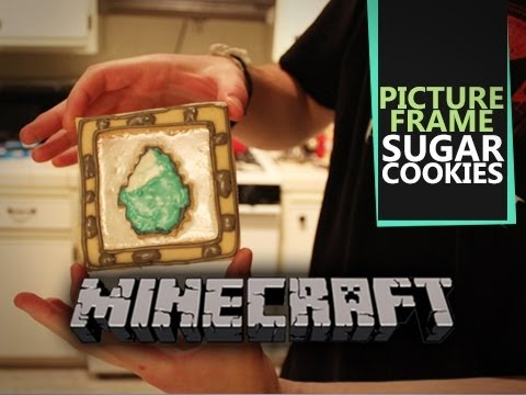 Minecraft Picture Frame Cookies - Quake N Bake