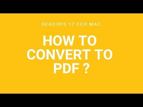 Readiris 17 Mac: Convert to PDF