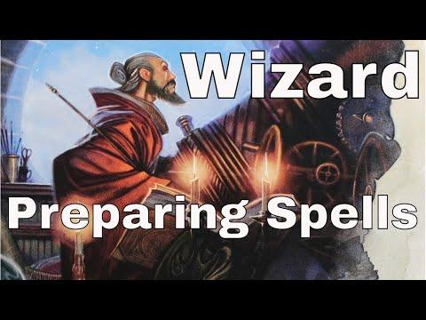 D&D (5e): Preparing Wizard Spells