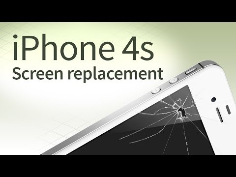 iPhone 4s screen replacement disassembly and reassembly [english]