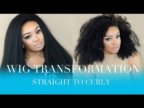 HOW TO: WIG TRANSFORMATION CURLING SYNTHETIC WIGS (STRAIGHT TO CURLY)