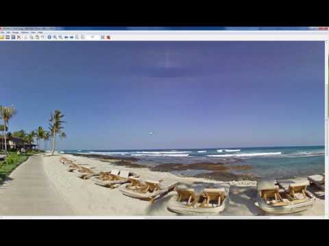 Convert Google Street View to a 360 HDRI for 3D.