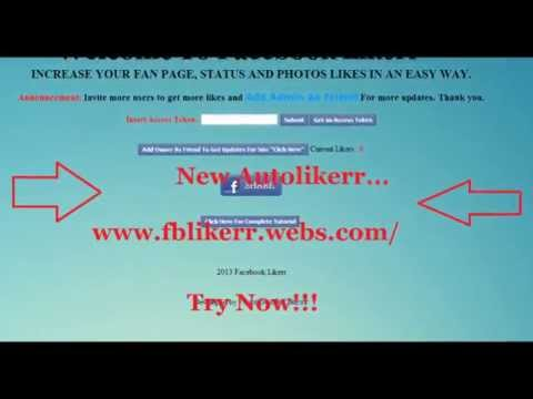 New Auto Likerr Get Facebook Likes On Post|Photo|Fan Page Try Now!