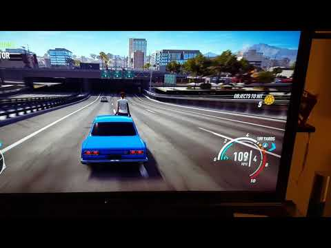 Need for speed payback glitch! Jess on the roof of the car Haha! Funny glitch on ps4.