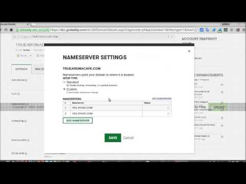 Pointing Your Godaddy Domain Name To 3rd-party Hosting Company
