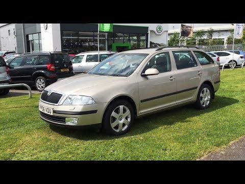 ŠKODA Octavia Estate L&K in Sahara Beige 2006 (06 Reg) (HD)