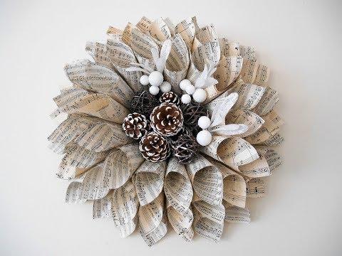 Christmas Poinsettia  -  Paper Wreath