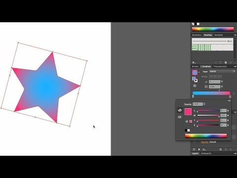 How to Edit Radial Gradient Colors | Adobe Illustrator