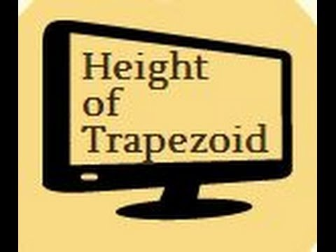 Finding the height of a trapezoid-Geometric Shapes-Geometry-MooMooMath