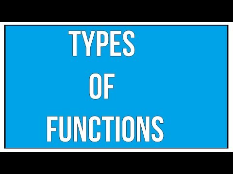 Explain The Different Types Of Functions / Maths Algebra