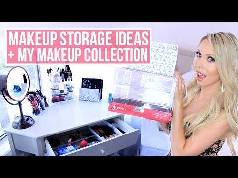 Cheap Makeup Storage and Organization Ideas + My Makeup Collection!