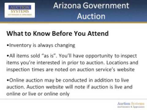 Arizona Government Auction: What's In It for You?