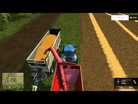 Farming Simulator 15 - Harvesting Wheat and Barley - Westbridge Hills