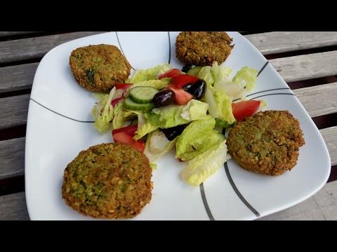 Live Cooking Falafel Salad Recipe